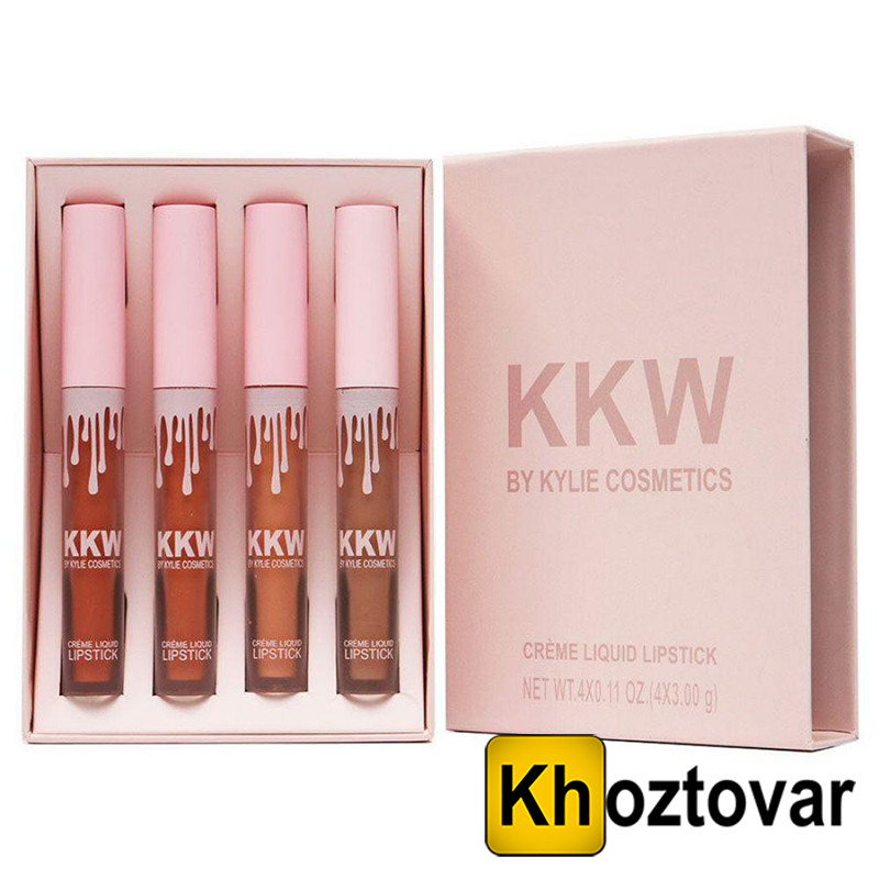 Помада розовая Kylie KKW | 4 штуки