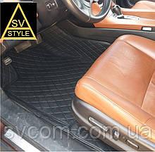 Килимки Mitsubishi Шкіряні 3D (кузов № / 0000-0000) Чорні