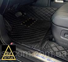 Коврики Honda Кожаные 3D (кузов № / 0000-0000) Чёрные