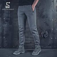 Теплые спортивные штаны BeZet '20 серые