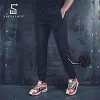 Теплые спортивные штаны BeZet '19 черные, фото 1