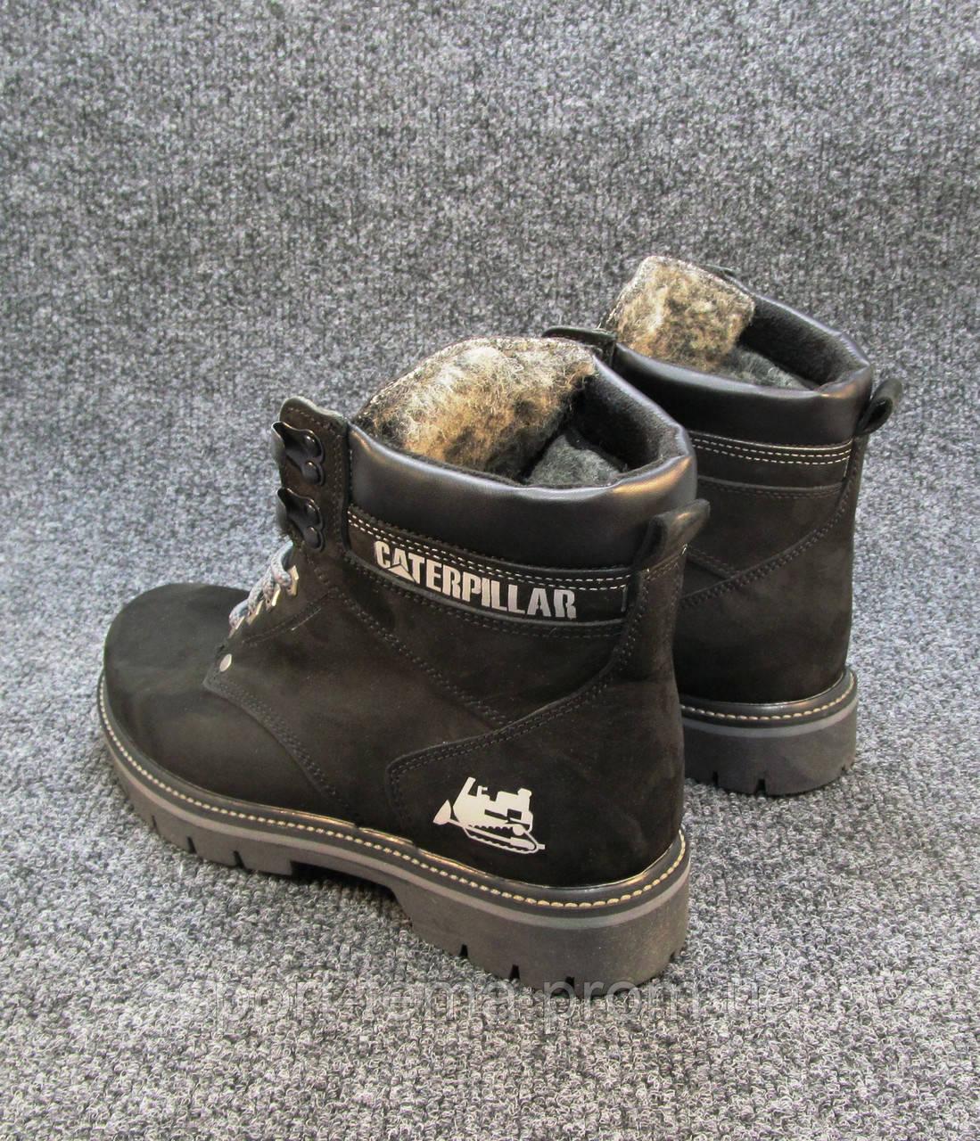 1fdae1f53 Ботинки Caterpillar кожаные с мехом черные унисекс (р.36): продажа ...