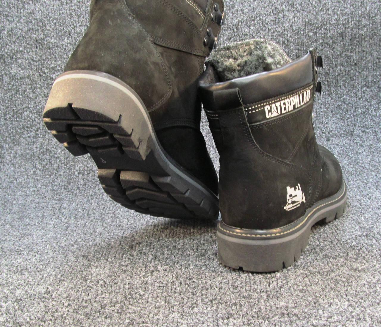 673e8e872 Ботинки Caterpillar кожаные с мехом черные унисекс (р.36), цена 765 грн.,  купить в Николаеве — Prom.ua (ID#793931124)