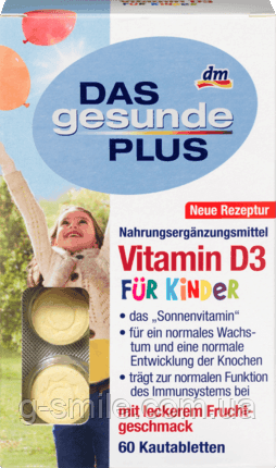 Mivolis DAS gesunde PLUS Vitamin D3 Kautabletten, 60 St