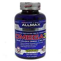 AllMax Nutrition Omega-3, 180 softgel, фото 1