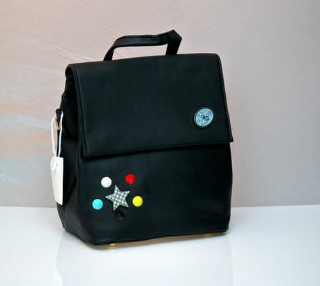 Молодежный модный рюкзак подросток девочка пчела черный, фото 2