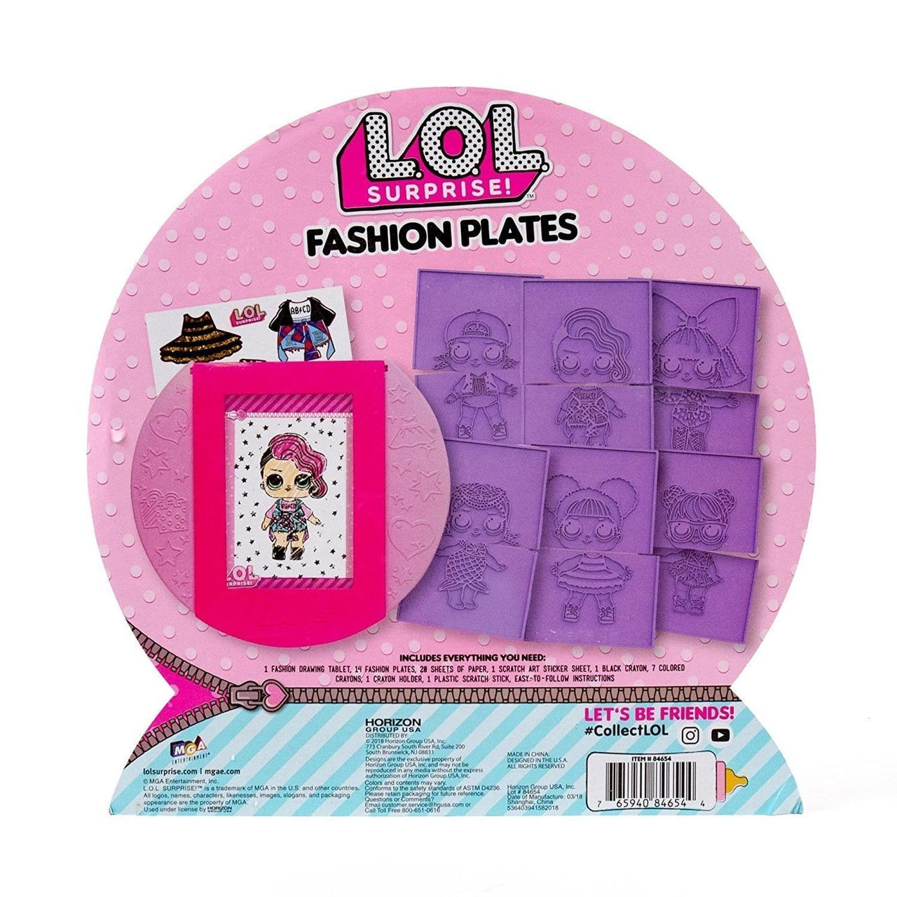 Раскраска ЛОЛ Сюрпрайз L.O.L. Surprise Fashion Plates ...