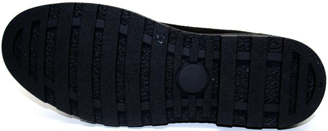 Мужские ботинки кеды IKOS 1479 - 1B плоской резиновой подошве в тон. С крупным протектором.