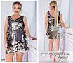 Платье-майка короткое облегающее пайетка+подклад трикотаж 48-50,52-54,56-58, фото 2