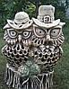 Шамотные фигуры. Фигура из керамики Совиная пара