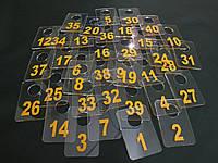 Номерки для гардеробов 40*60 мм желтый, фото 1