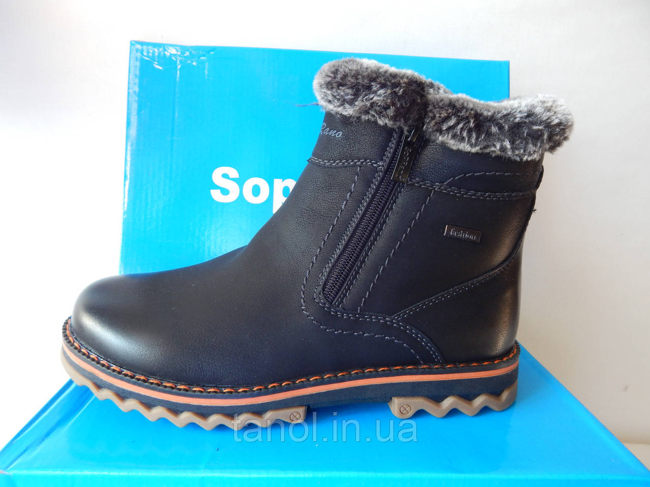 Красивые подростковые зимние ботинки 39 раз. на меху