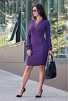 Вязаная женская туника, платье Рианна в расцветках
