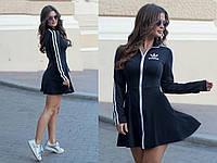 Платье в спортивном стиле на молнии / 6 цветов арт 7136-535