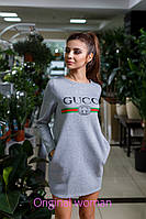 Платье-туника утепленное копия Гуччи, фото 1