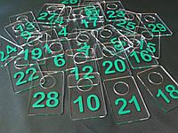Номерки для гардеробов 40*60 мм зеленый, фото 1