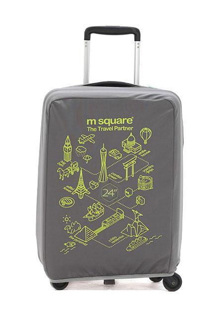Чехол на чемодан M Square серый