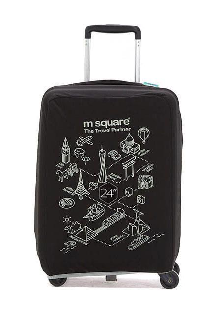 Чехол на чемодан M Square черный