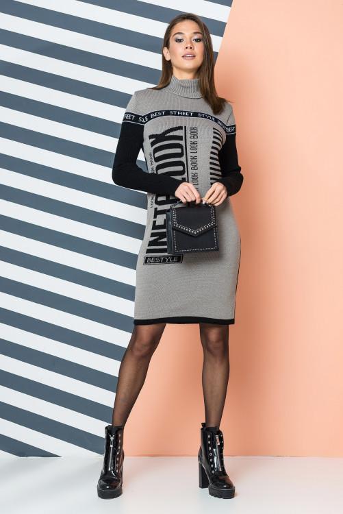 Вязаное платье Инста Лук р 42-50