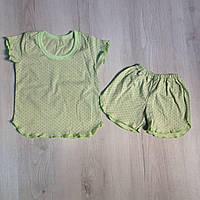 Пижама летняя на девочку Горошек 92/98 (2-3 года), 98/104 (3-4 года)