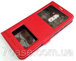 Чехол книжка с окошками momax для Xiaomi Pocophone F1 красный