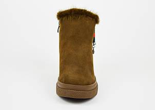 Замшевые ботинки с норкой хаки Lonza 7859, фото 3