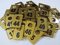 Гардеробный номерок 40*60 мм золото, фото 1