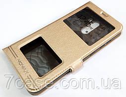 Чехол книжка с окошками momax для Xiaomi Pocophone F1 золотой