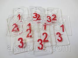 Номерки для гардеробов 40*60 мм красный