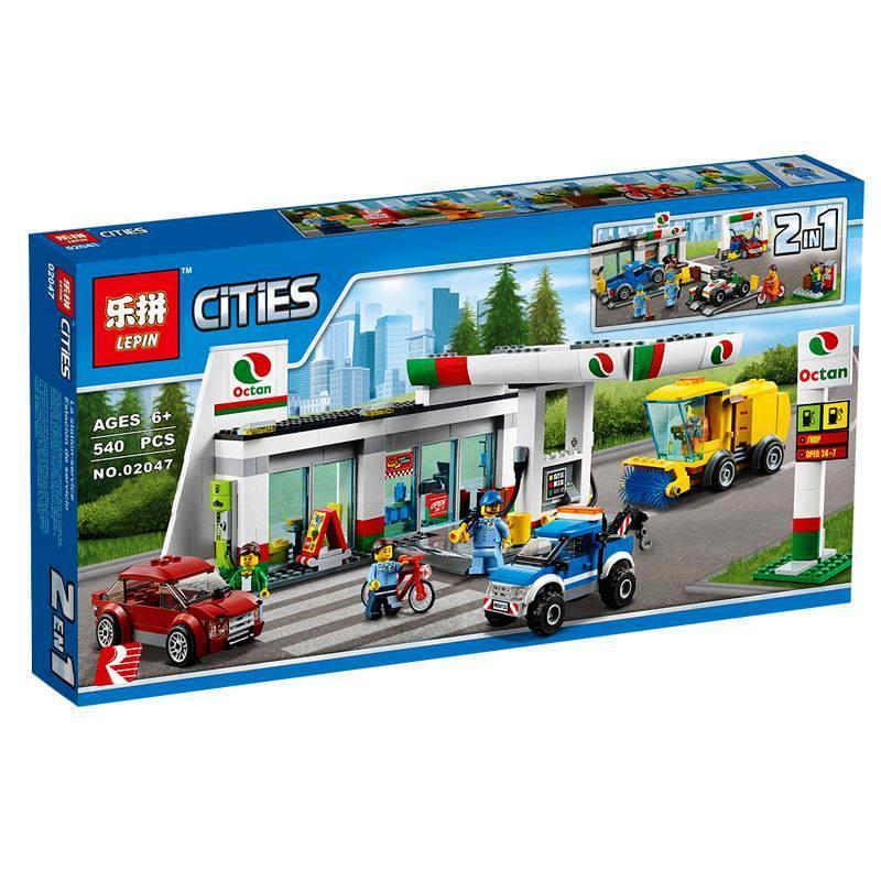 Конструктор Lepin 02047 City Станция технического обслуживания 540 деталей