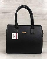 Черная каркасная сумка 31215 классическая деловая саквояж, фото 1