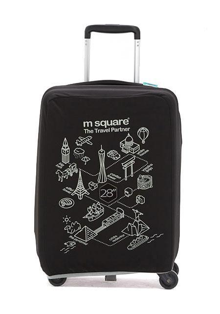 Чехол на чемодан M Square (L) черный