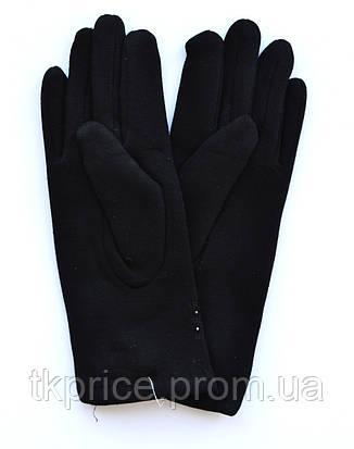 Женские трикотажные перчатки на флисовой подкладке, фото 2