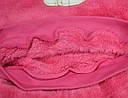 """Пижама теплая для девочки """"Зайка"""" розовая, велсофт (р. 128 cм) (Украина), фото 4"""