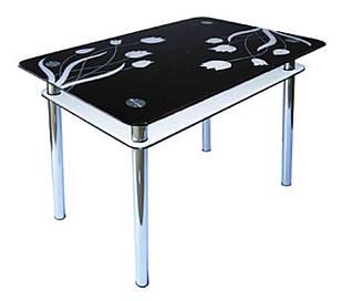 Стіл обідній зі скла в кухню вітальню КС-1 Антонік