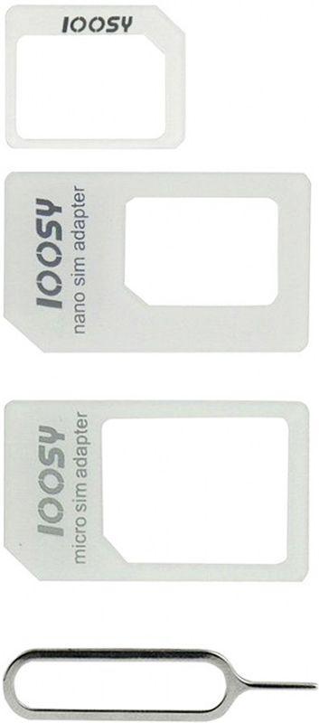 Адаптер SIM-карт Noosy 4 in 1 Sim Adapter White