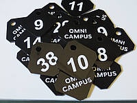 Номерки для ключей ромб с логотипом, фото 1