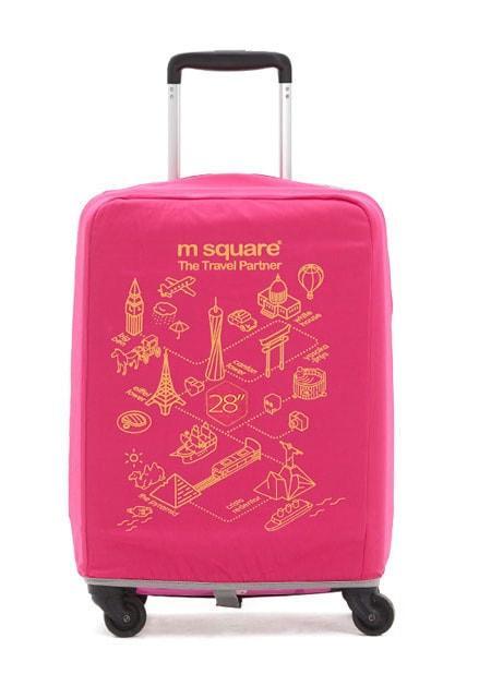 Чехол на чемодан M Square (L) розовый
