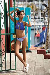 Модный раздельный женский купальник с вышивкой F73 460