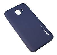 Накладка силиконовая для смартфона Samsung J400 (J4 2018), SMTT matte, Dark blue