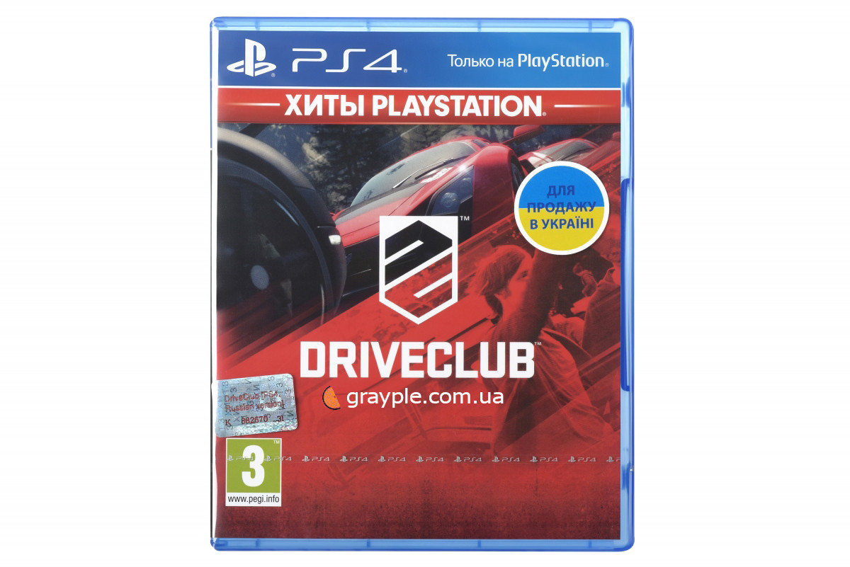Диск PS4  Drive Club (Russian version, PS4)