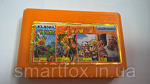 KT 8505 (4 in 1) PLANTS ZOMBIES+CONTRA 2+ADVENTURE ISLAND+DOUBLE DRAGON 3