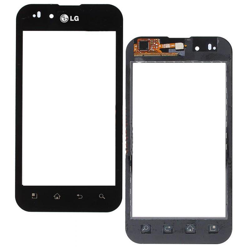 Сенсорный экран (тачскрин) LG P970 Optimus чёрный ориг. к-во