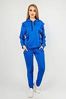 Спортивний костюм Донона (електрик) двунітка з рюшами 44-52 розміру, фото 1