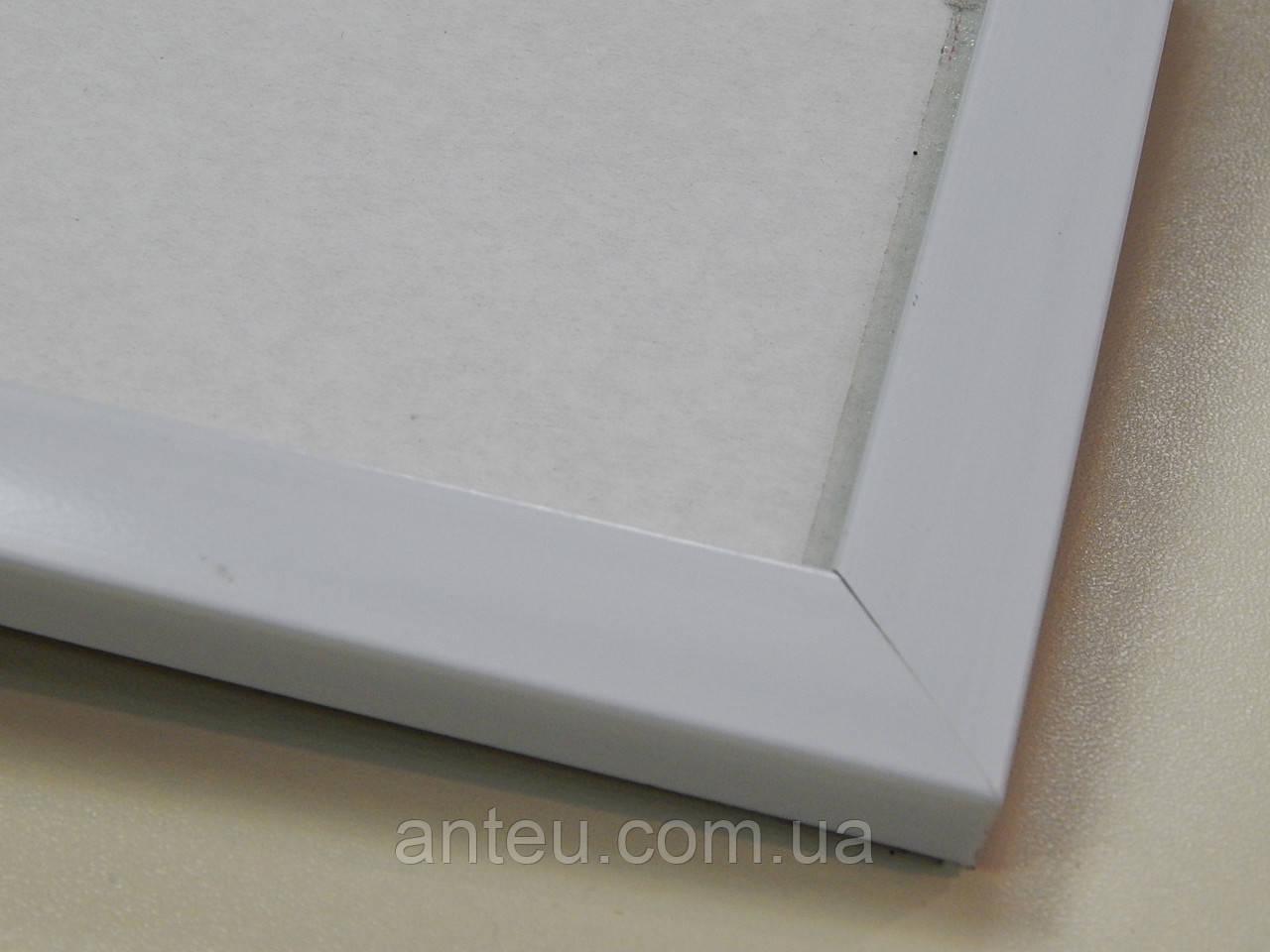 Рамка А2 (420х594)Антибликовое стеклоБелый  матовый.22 мм.Пластик.