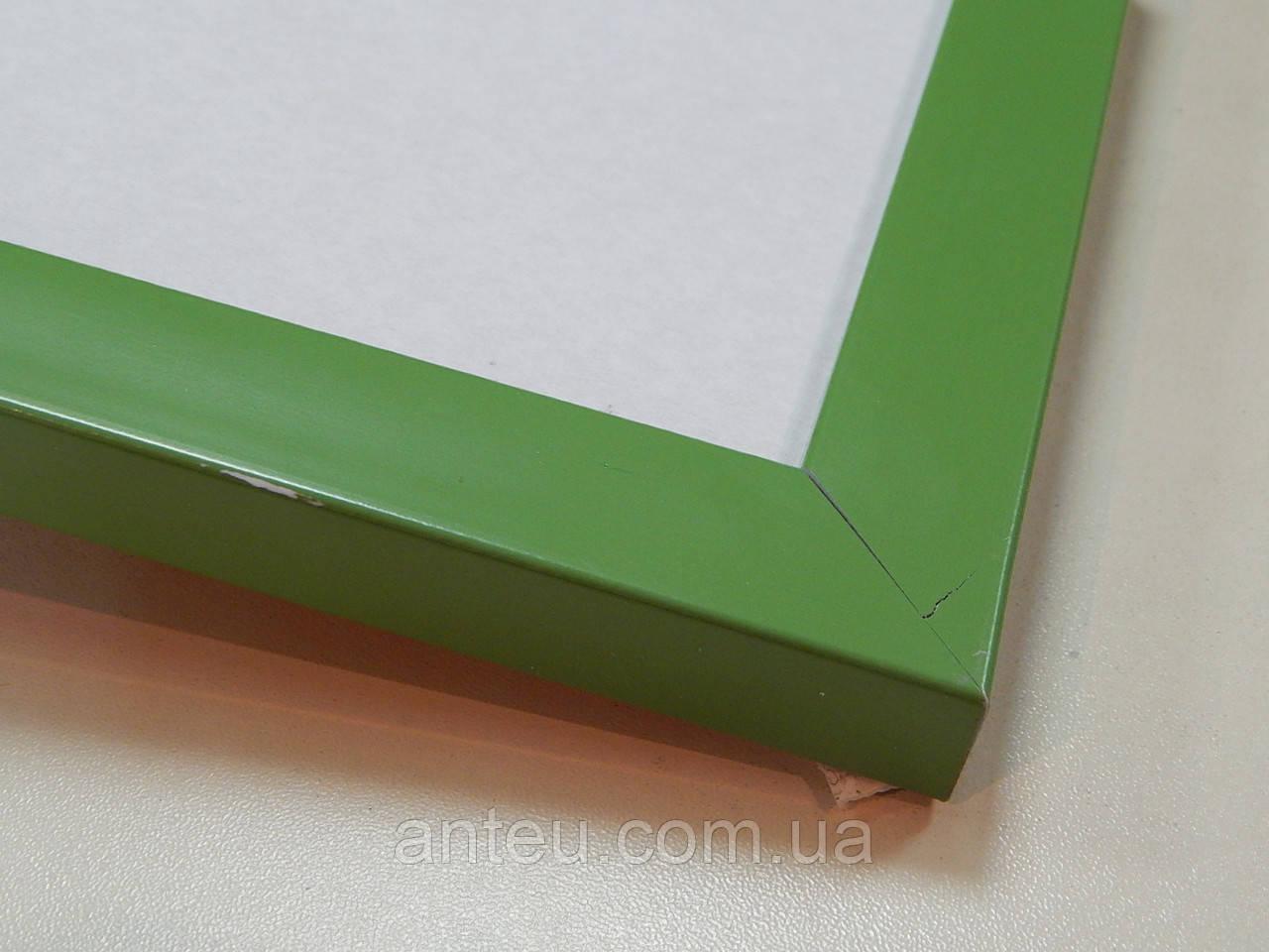 Рамка А2(420х594)Антибликовое стеклоПрофиль 22 мм.Зеленый матовый.
