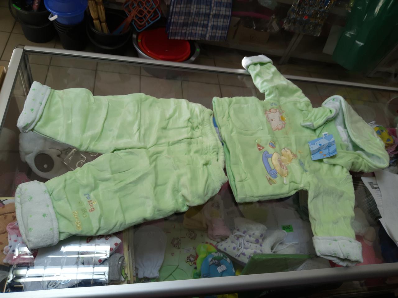 Детский велюровый костюм на синтепоне  р.68 - 86