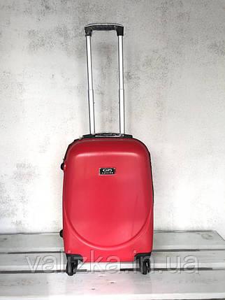 Валіза пластикова для ручної поклажки червона S+. Пластиковый чемодан для ручной клади красный. Польша , фото 2