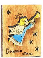 """Деревянная открытка """"Рождественский ангел"""""""