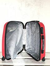 Валіза пластикова для ручної поклажки бордо S+. Пластиковый чемодан для ручной клади бордовый. Польша , фото 3
